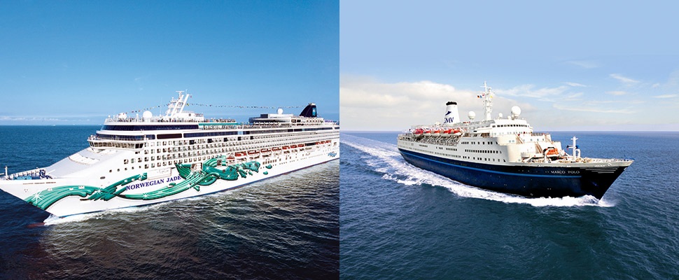 Norwegian Jade and Marco Polo